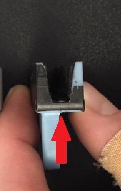ES350 front window broken plastic clip